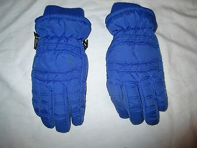 Thinsulate Winter Gloves Kid's Children's Youth Blue Size 7-14 Years Warm