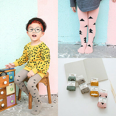 US Baby Toddler Girls Cotton Tights Socks Stockings Pants Hosiery Pantyhose L