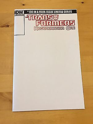 Transformers Comic Idw Regeneration One #100 Herb Trimpe Blank Sketch Cover Rib