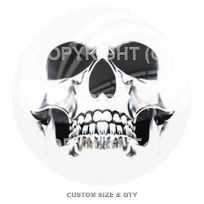 Premium Glossy Round 3D Epoxy Domed Decal Don/'t Tread On Me Black /& White S-188