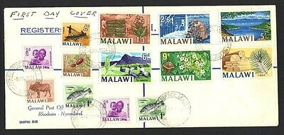MALAWI JULY 6, 1964 #s 5-15 1st DAY AS AN INDEPENDENT STATE THIS COUNTRY WAS THE