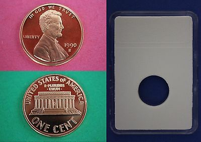 1990 S Proof Lincoln Memorial Cent Penny With DIY Slab Combined Shipping
