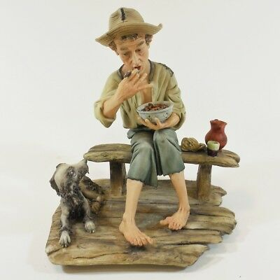 Large D Bonalberti Hand Sculpted Works of Art Italy Capodimonte Figurine - Lunch