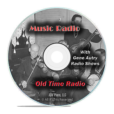 422 Country Music Old Time Radio Shows, with Gene Autry and more OTR mp3 DVD G19