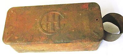 Vintage--International Harvester Tool Box With Oil Can Holder