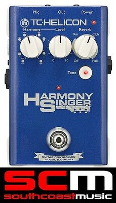 TC Helicon HARMONY SINGER Vocal Harmony FX Effects Processor Pedal New +Warranty