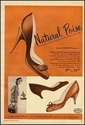 1955 Vintage ad for Natural Poise Shoes, WOHL Shoe Company (092312)