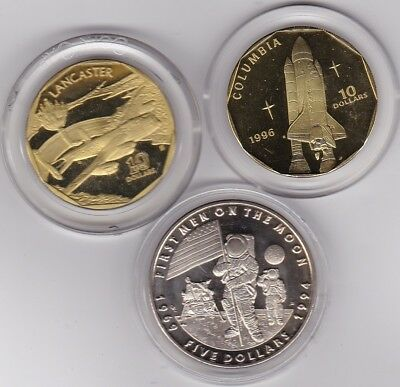 2 Marshall Island 1994 & 1996 Base Metal Coins In Near Mint Condition/capsules