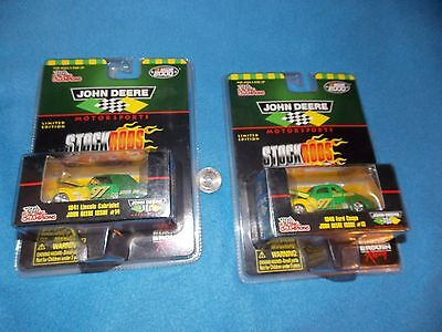 NASCAR 2000 - LOT OF 2 John Deere FORD Stock Rods-1941 LINCOLN & 1940 FORD COUPE