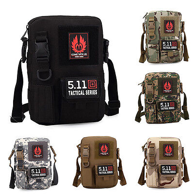 Men's Military Tactical Pouch Travel Hiking Camping Shoulder Sport Bag 19*6*27cm