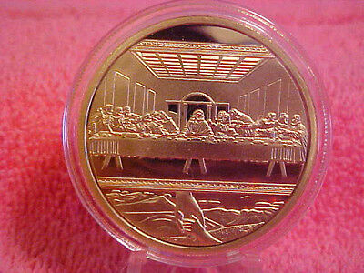 Super Gift Idea Jesus 1 Troy oz Art Coin W Case & Free Shipping Gold Plated