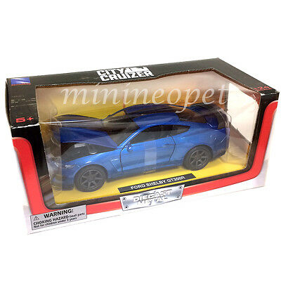 New Ray 71833 2016 16 Ford Shelby Gt 350R 1/24 Diecast Model Car Blue