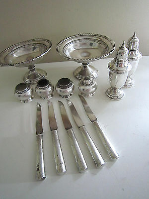 Mixed Estate Lot Weighted Sterling Silver Use Or Scrap 1.5 Lbs