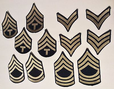 Lot Of Original WW2 US Army 1st Class Sergeant Rank Patch Sets Huge Lot Mint Nos