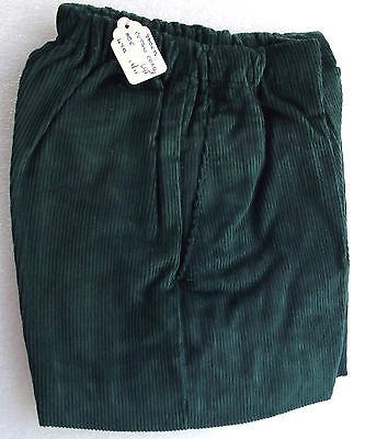 Vintage childrens cord shorts Age 4 UNUSED 1950s green corduroy LADYBIRD lined