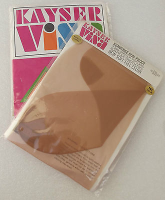 2 pair Vintage nylon stockings 10 1/2 Kayser Seam free CELON boxed VIENNA VOGUE