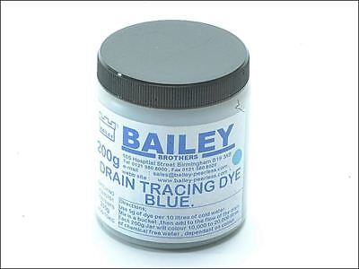 Bailey 1992 Drain Tracing Dye Powder Blue Mix with Water Flow Pipes Drains Tube