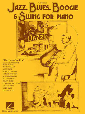 Jazz Blues Boogie Swing Piano Solo Sheet Music 39 Standards Hal Leonard Book NEW