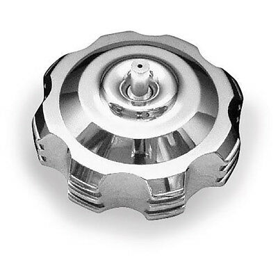 ModQuad Anodized Gas Cap with Breather Valves | Polished 45 degree step | GC1-6