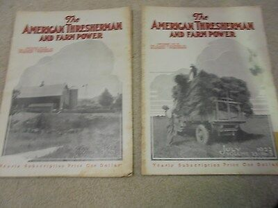 Vintage May 1922 and July 1922 The American Thresherman and Farm Power Magazines