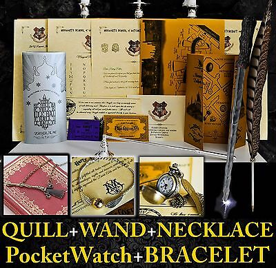 Harry Potter Personalised Gift Set Marauders Map-Wand-Quill, Hogwarts Letter 2a