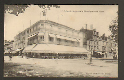 "NIORT (79) GRAND CAFE-RESTAURANT ""P. CAILLET"" en 1918"