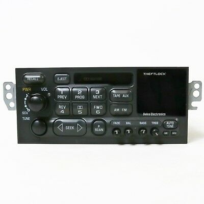 1995-2002 GMC Chevy Truck Van GM Delco Radio AM/FM Cassette Player Part 16265851