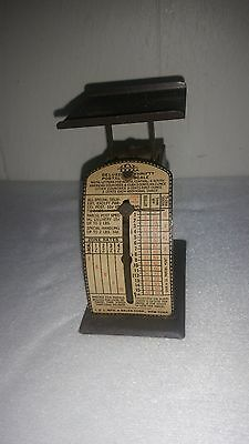 Vintage Deluxe Thrifty Postal Scale 1930s '40s I D L Mfg & Sales Corp New York