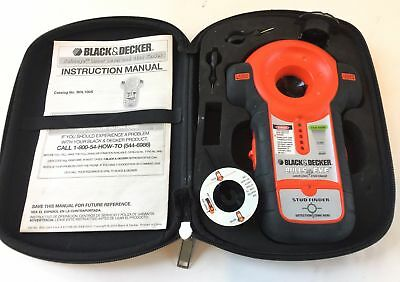 Black & Decker Bulls Eye Laser Level Stud Finder BDL100S with Case