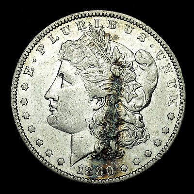 1880 P ~**ABOUT UNCIRCULATED AU**~ Silver Morgan Dollar Rare US Old Coin! #J45