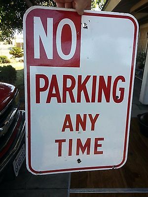 vintage NO PARKING Sign porcelain enamel