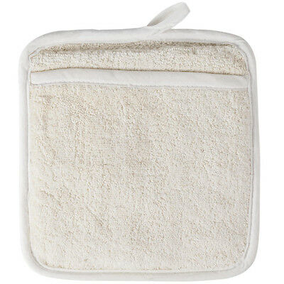 Usa Seller  6 Beige Terry Cloth Pot Holders  Free Shipping Us Only
