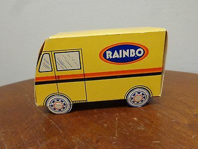 Rare Vintage Unused RAINBO Bread Truck Matchbook Matches Bank