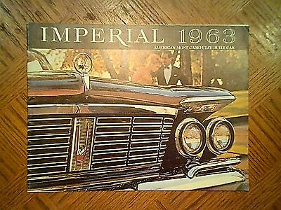 1963  CHRYSLER  IMPERIAL  STANDARD  SALES  CATALOG - Original