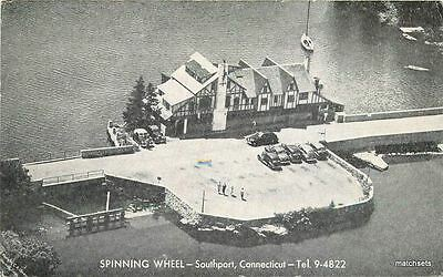 1940's Autos Birdseye View Spinning Wheel Restaurant SOUTHPORT Connecticutt 4749
