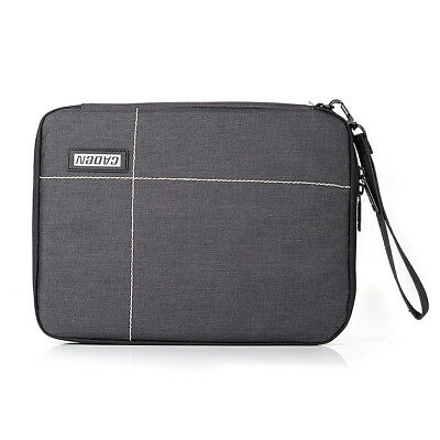 CADEN Double Layer Travel Case Canvas Bag for Phone Ipad Electronics Accessories