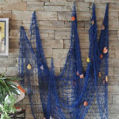 Nautical Seaside Beach Decorative Sea Ocean Fish Net Shell Home Wall Decor AU