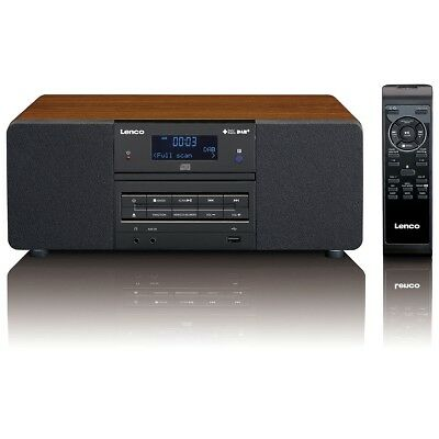 lenco dab fm radio mit cd mp3 player fernbedienung digitalradio dar 050 holz eur 153 99. Black Bedroom Furniture Sets. Home Design Ideas