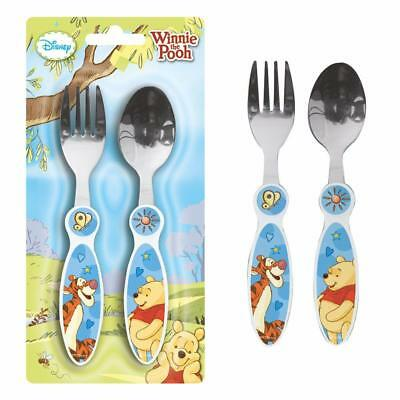 Winnie the Pooh - 2-Piece Children's Cutlery Set with Plastic Handle