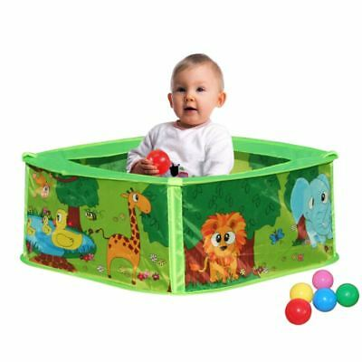 Baby Animal Play Tent Ball Pit Pool with 50 Balls Childrens Kids Pop Up Indoor