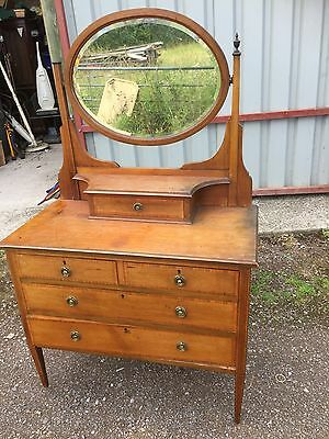 Edwardian Dressing Table With Marquetry Design For Restoration Vintage  24/7/J