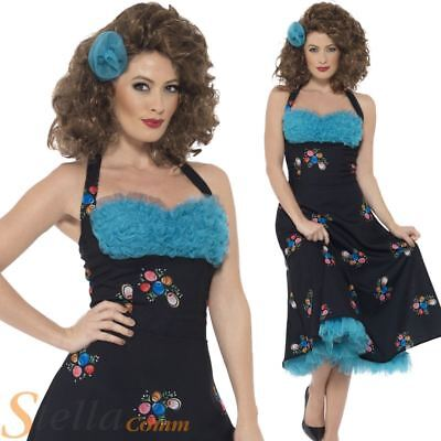 Ladies Grease Cha Cha DiGregorio Costume Official Fancy Dress Outfit