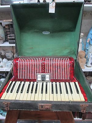 Vintage Hohner Verdi Im Piano Accordian Estate Lot Old Musical Instrument