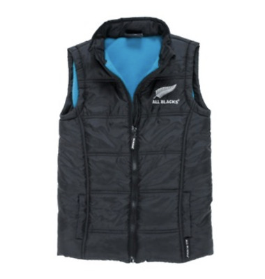 New Zealand All Blacks Puffer Vest - Size 0