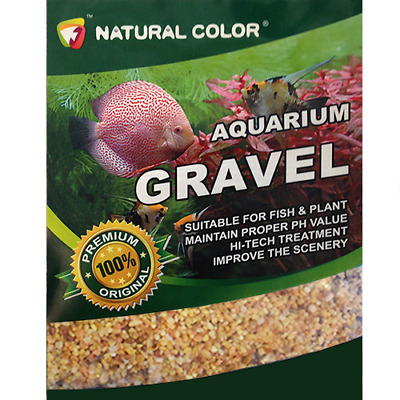 Natural Color Light Coloured Aquarium Pea Shingle Gravel/Sand 2 - 4mm 5kg - 60k