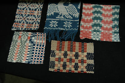 Nice Crafting Lot Antique Coverlet Pieces for Pillows Little Ornaments - A