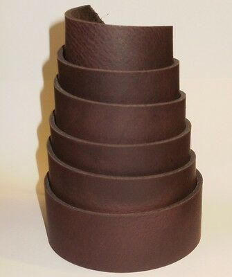 "RANGER 3MM THICK BROWN LEATHER BELT BLANKS 140cm -  55"" LONG"