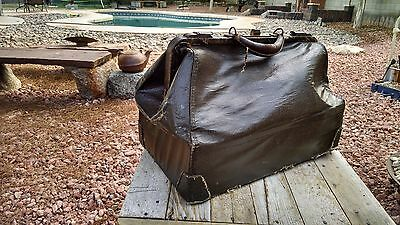 Vintage Leather Doctors Medical House Call Bag Medicine Schell Eli Lilly Emdee