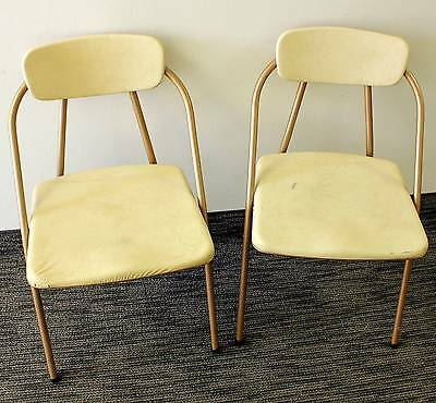 Pair of 1960s Mid Century Chairs from the Hamilton Co Cellulose Cushion