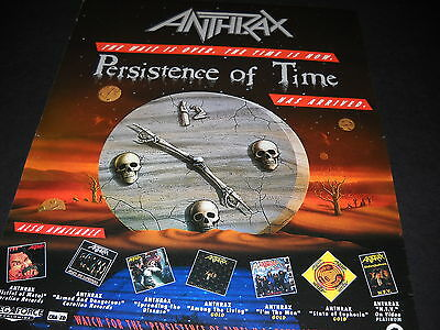 ANTHRAX ....has arrived P.O.T. Promo Display Ad mint condition
